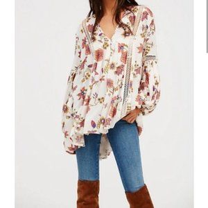 FREE PEOPLE Just the Two of Us Ivory Tunic M